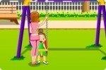 Tata al parco giochi