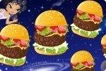 Una montagna di hamburger